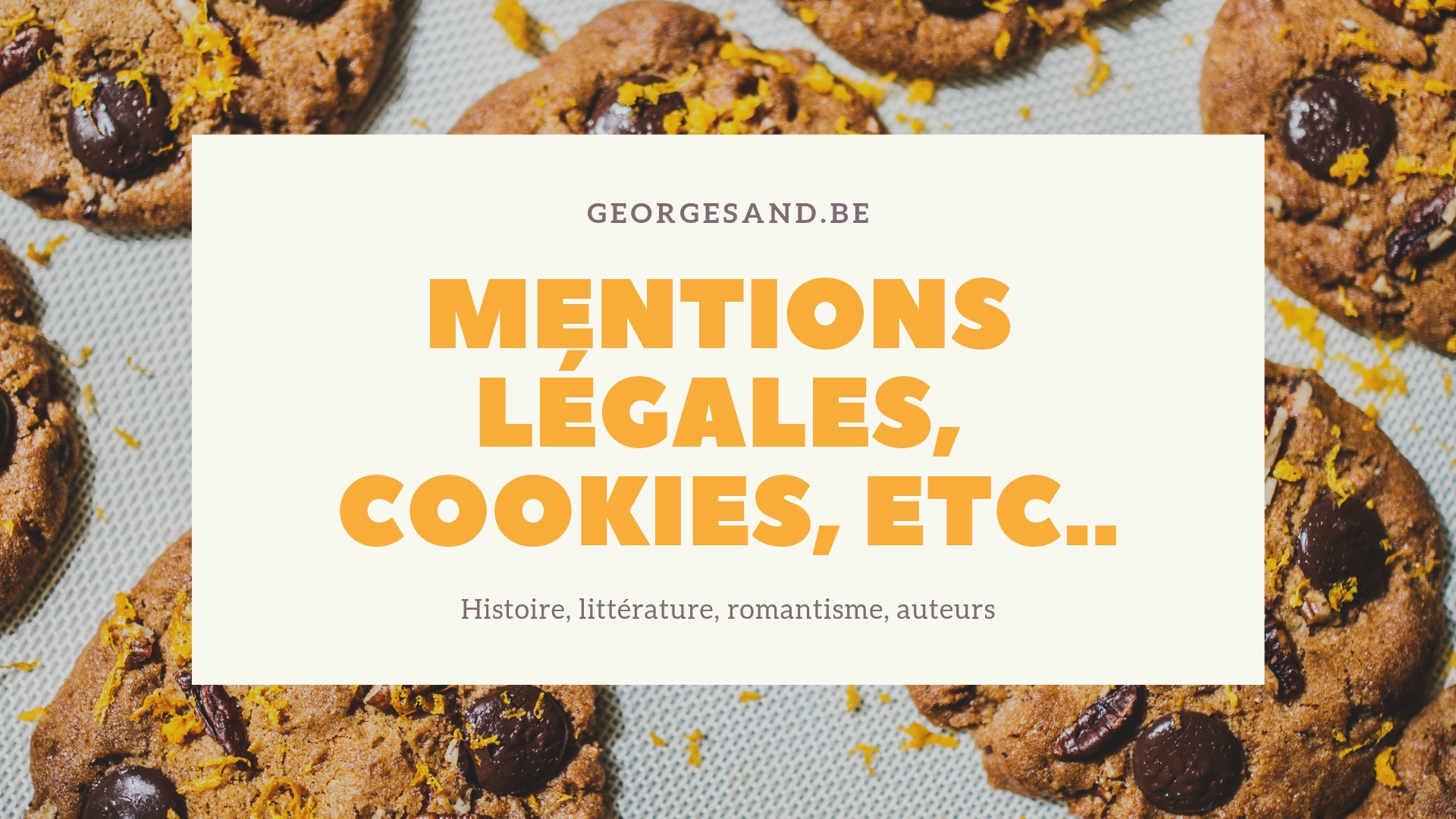 Mentions légales, cookies, etc..