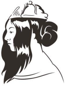 logo noir et blanc george sand